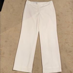 White house black market, 8R white tailored pants